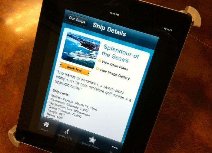 Un iPad por camarote con Royal Caribbean