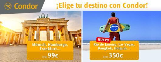 Elige el mejor destino y la mejor experiencia de viaje con Condor