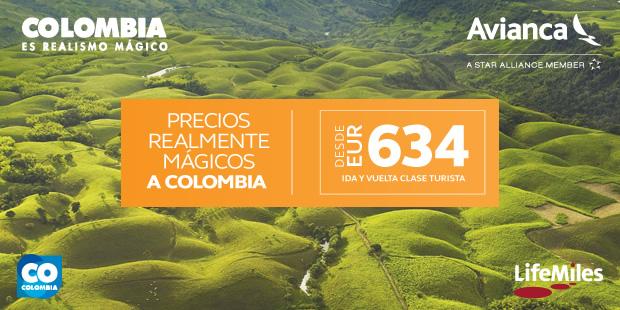 Anímate a volar a Colombia con Avianca