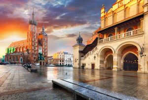 Plaza del Mercado,Cracovia