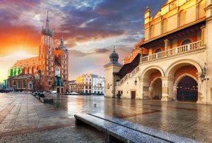 Plaza del Mercado,Cracovia