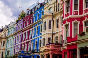 Pasea por las calles del emblemático barrio de Notting Hill