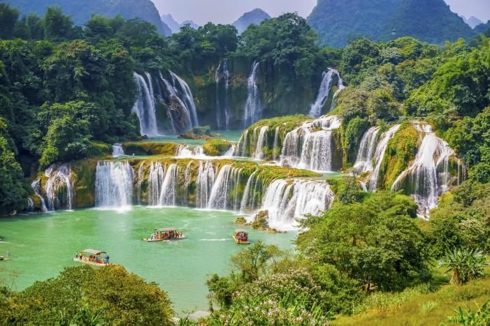 Las impresionantes cataratas Detian, entre China y Vietnam.
