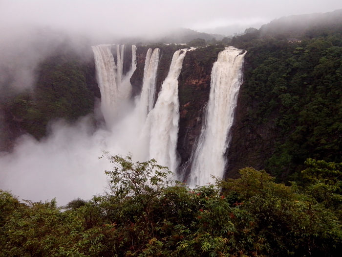 Las majestuosas cataratas de Jog, en la India.