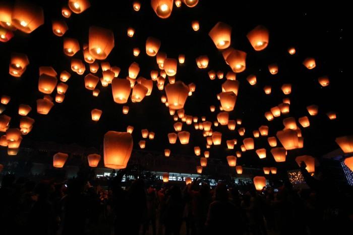 Fiesta de las linternas en Pingxi, Taiwán.