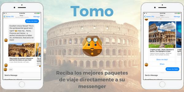 Tomo, tu agente de viajes personal en messenger