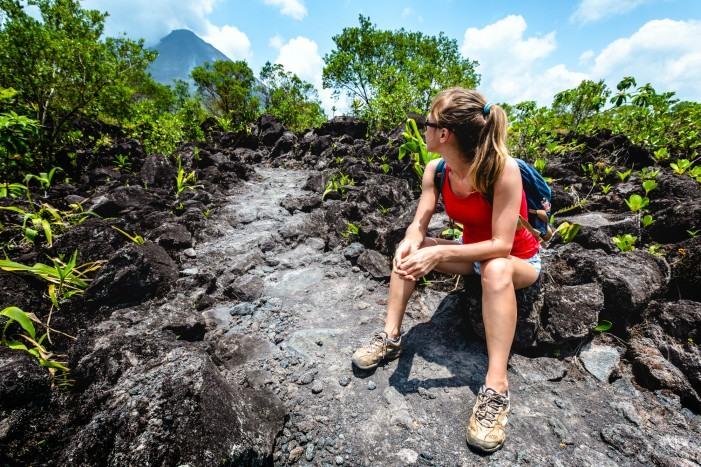 Sendero Las Coladas en el Volcán Arenal