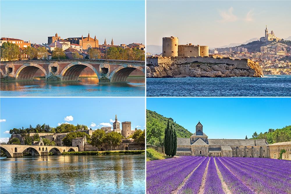 Paso por diferentes ciudades francesas