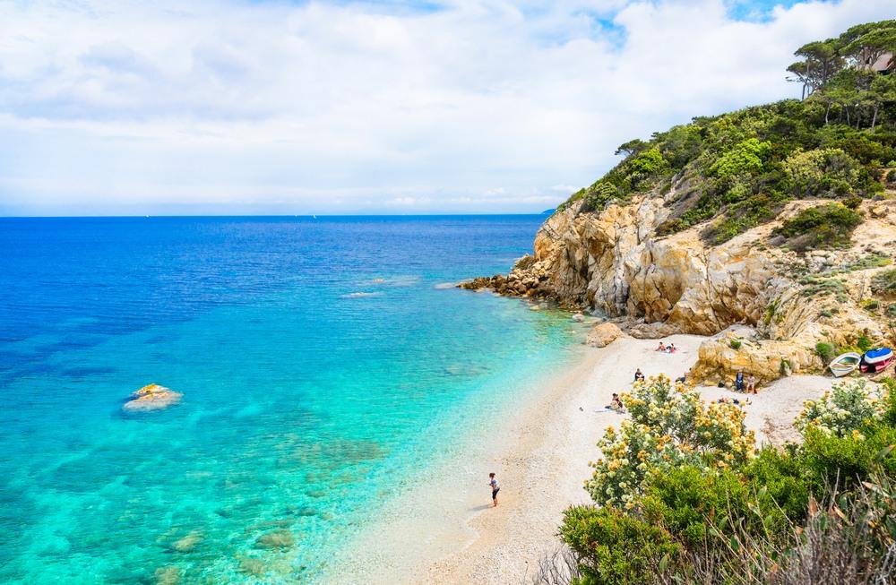 Playa de la Paolina en la Isla de Elba