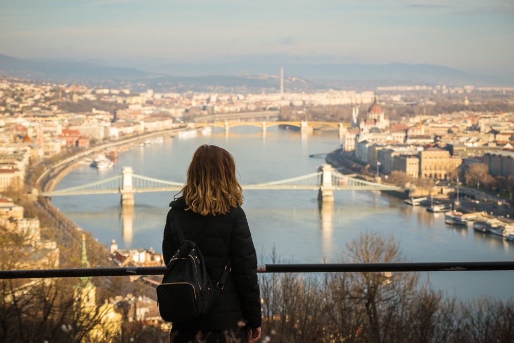 Mirador de la colina de Gellert en Budapest