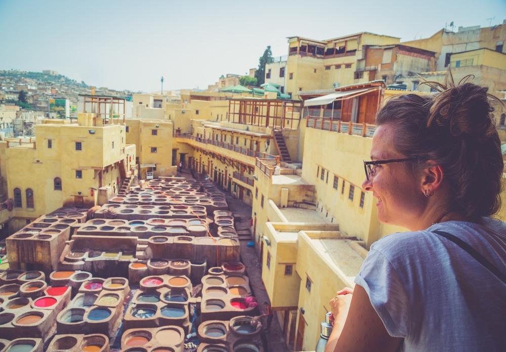 Curtidurías populares en Fez