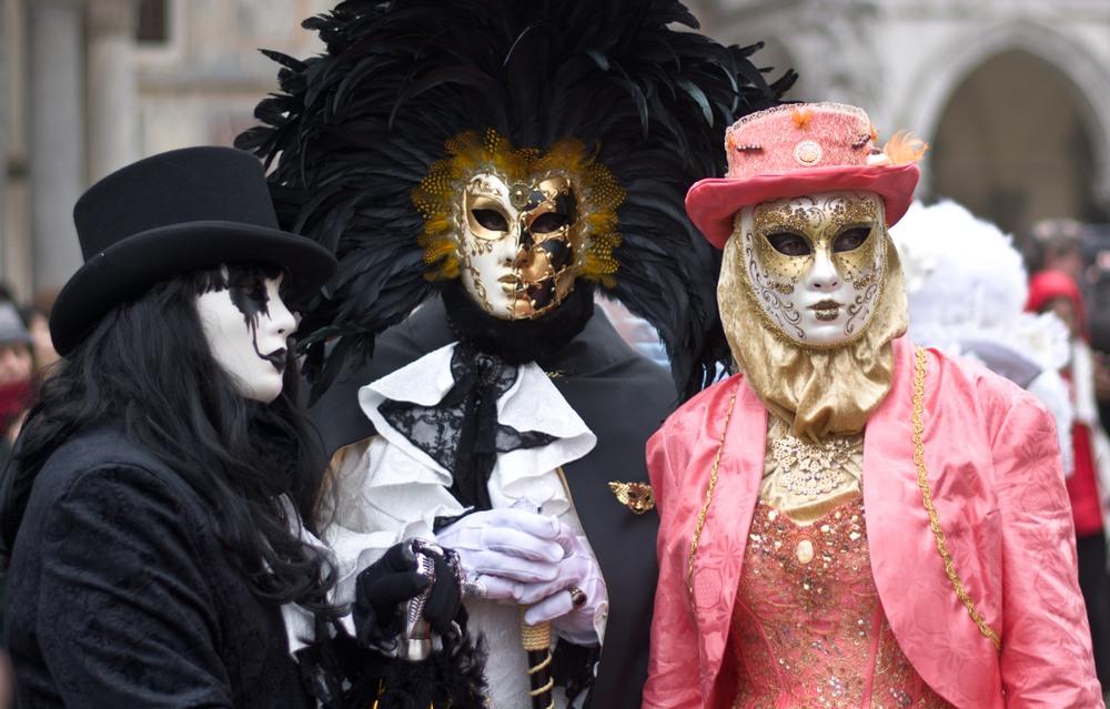 Máscaras típicas venecianas