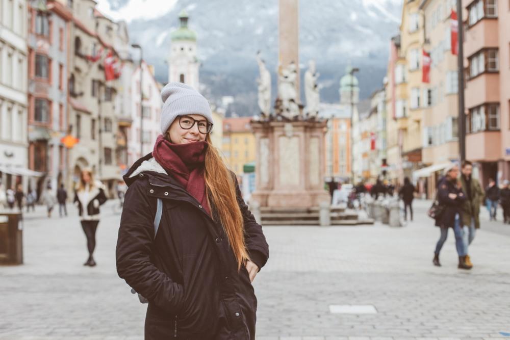 Plaza Maria Theresien en Innsbruck