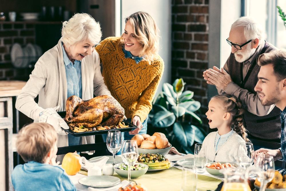 Cena familiar de Acción de Gracias
