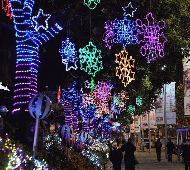 Calles de China con decoración navideña