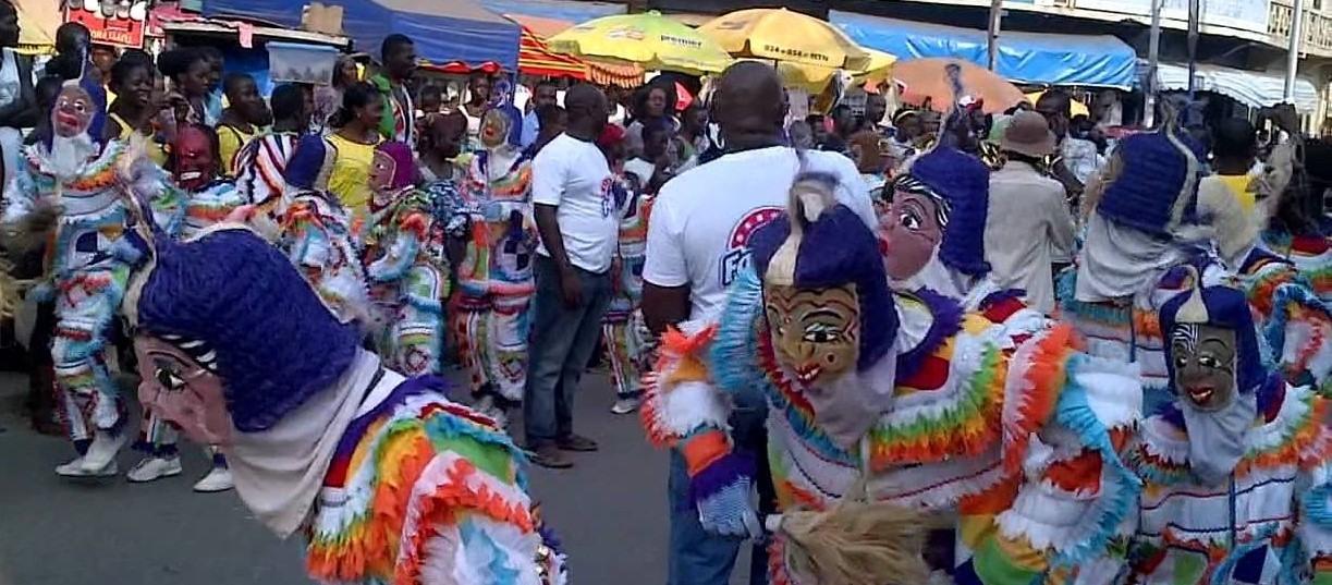 Celebración de la Navidad en Ghana