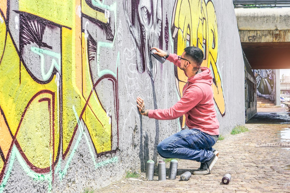 Artista del graffiti en Londres