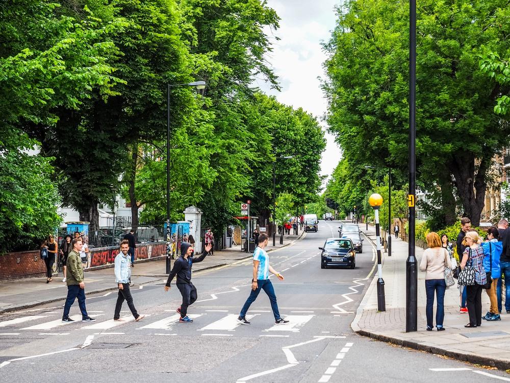 Famoso paso de cebra de Abbey Road