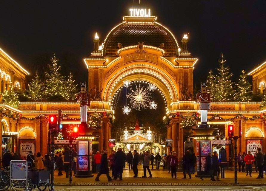 Mercadillo Navideño de Tivoli en Copenhague