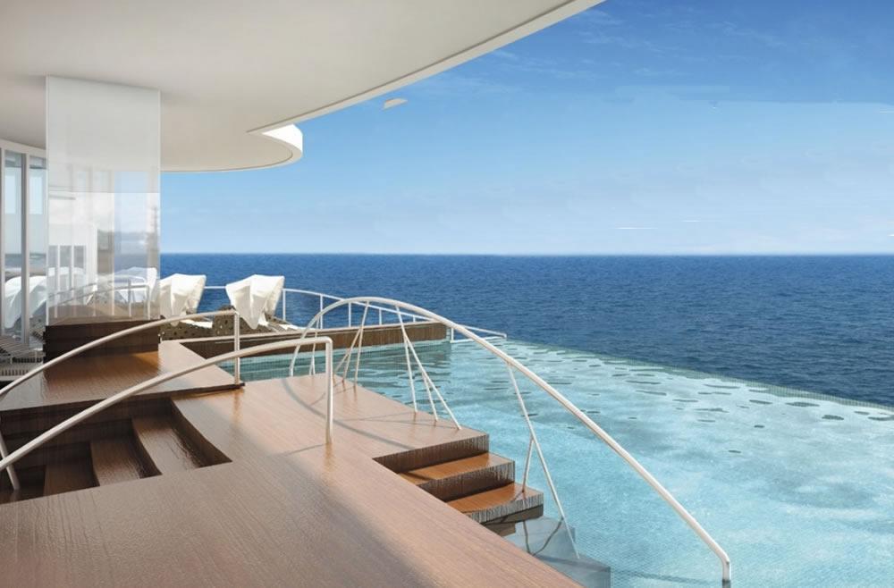 Spa exterior, Seven Seas Explorer, Regent