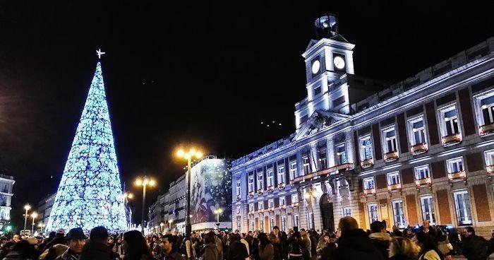 Puerta del Sol de Madrid en Navidad