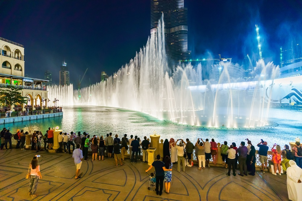 Las fuentes de Dubai