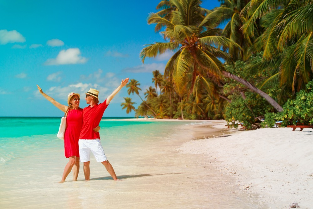 Couple in a beach in Punta Cana