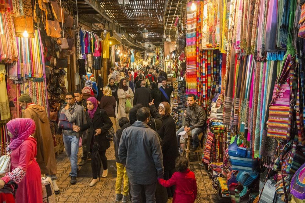 Los zocos en las calles de Marrakech