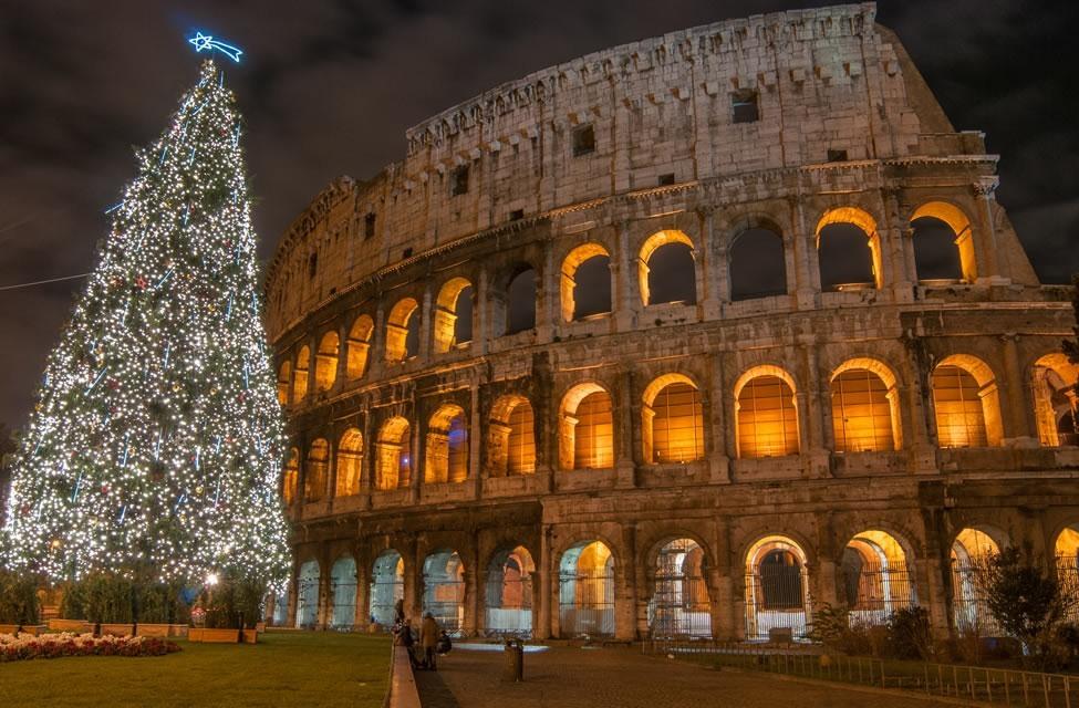 Coliseo Romano en Navidad