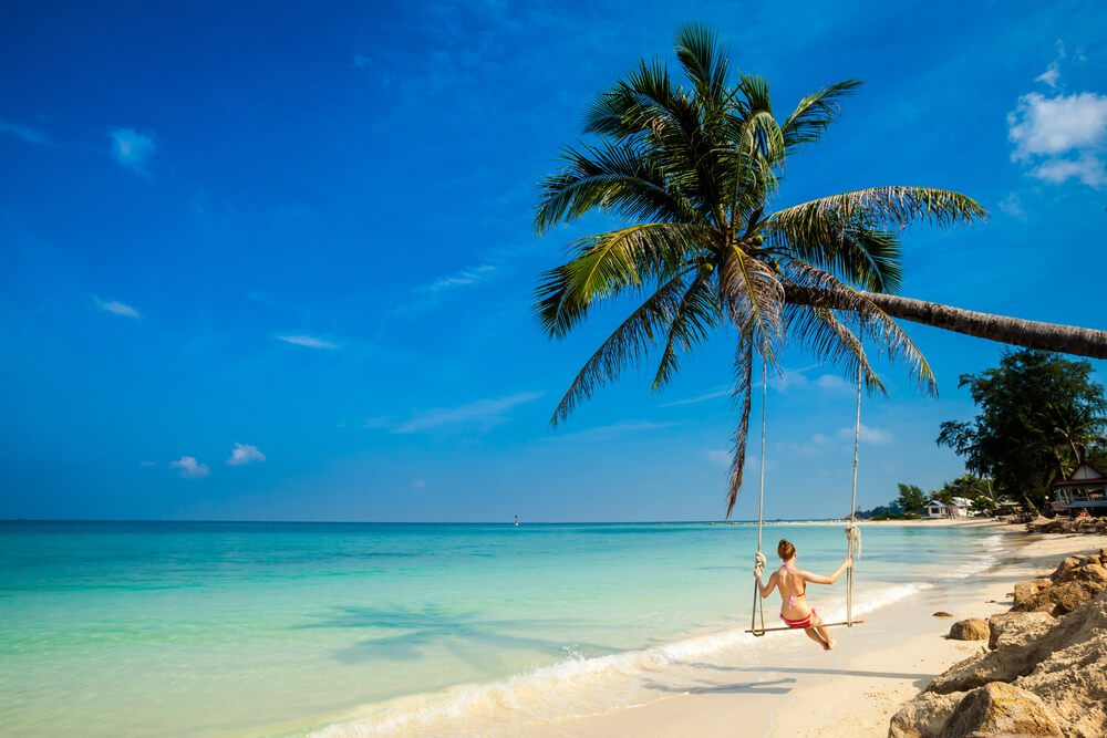 Playa en la isla Koh Phangan