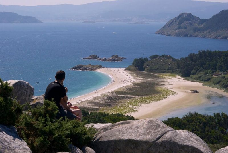 Vistas desde las islas Cies