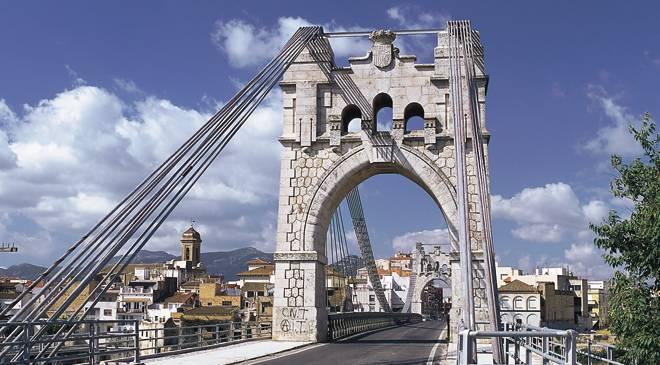 Puente de hierro en Amposta