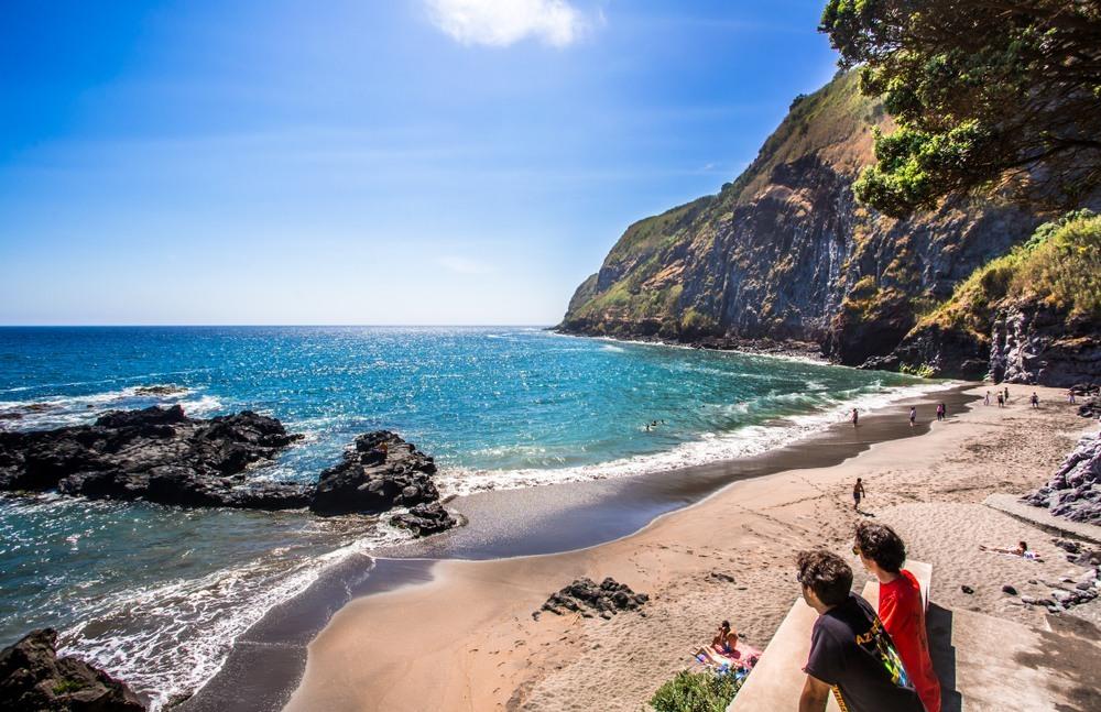 Playa en la isla de San Miguel