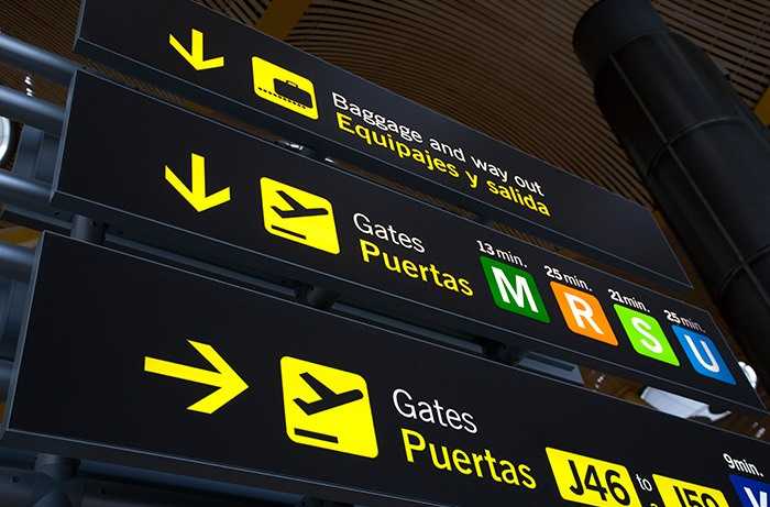 Cruce de caminos en el aeropuerto
