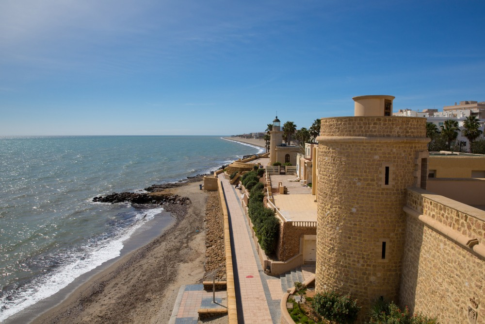 Castillo de Santa Ana en Roquetas Mar, Costa de Almería, Andalucía