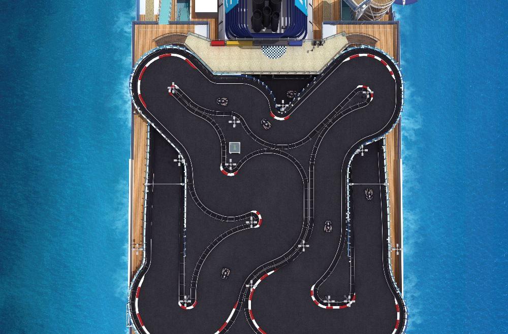 Circuito de karts en cubierta