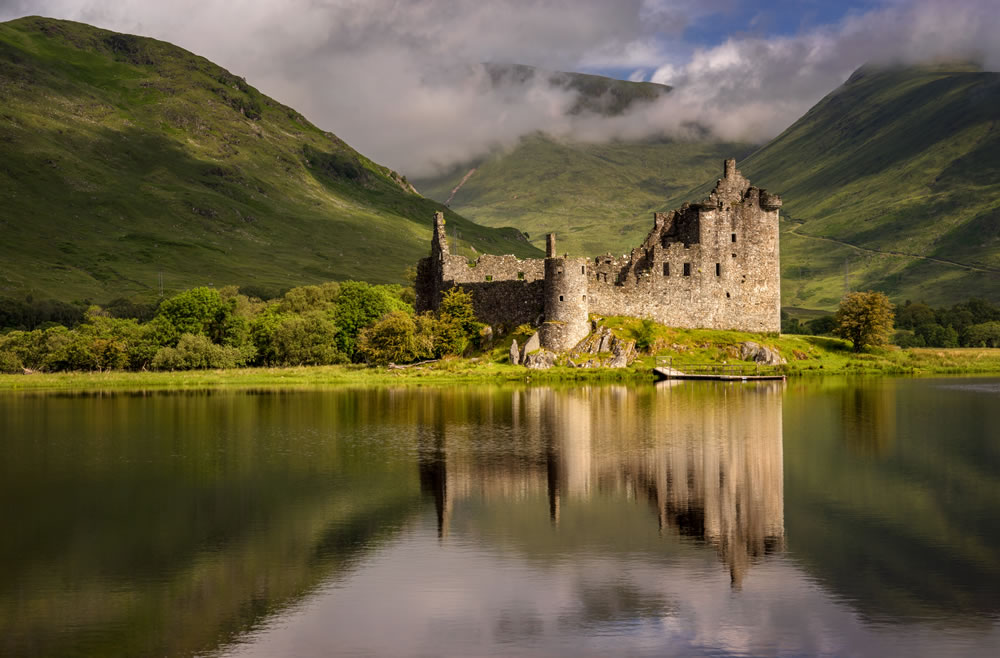 Castillo de Kilchurn en Loch Awe, Highlands, Escocia