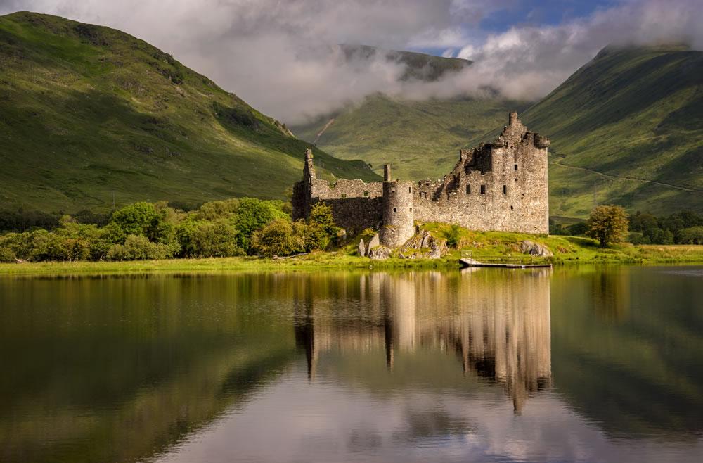 Castillo de Kilchurn en Loch Awe, Highlands, Escocia