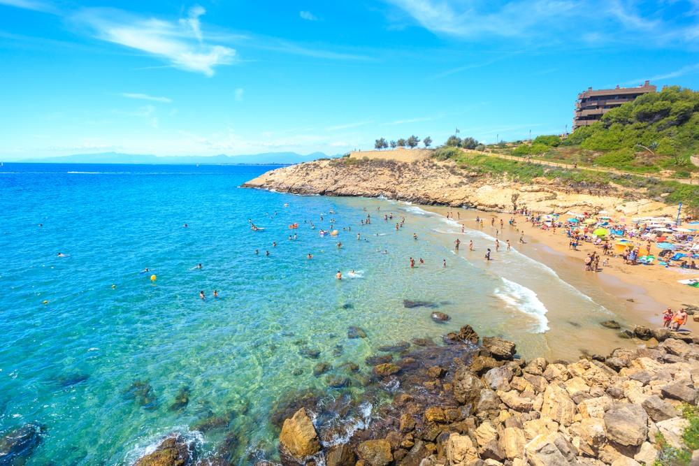 Fantástica playa en Salou
