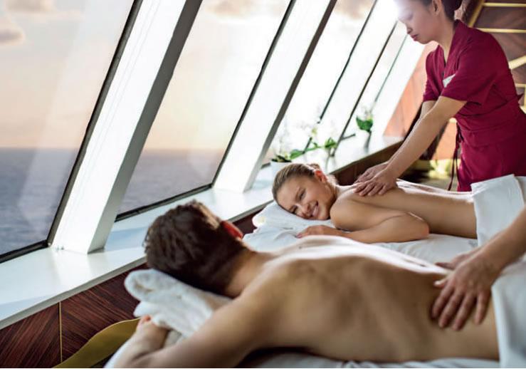 Tratamiento relajante en el spa.