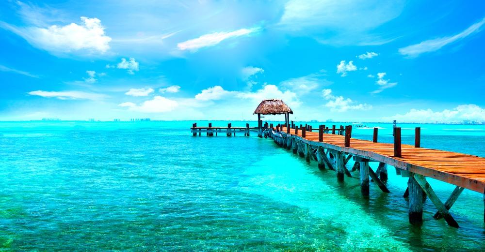 Cancún, playa del Caribe en México