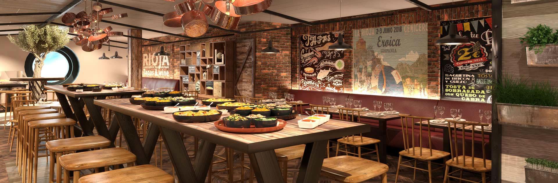 """Restaurante """"Hola! Tapas Bar"""" del conocido chef español Ramón Freixa"""