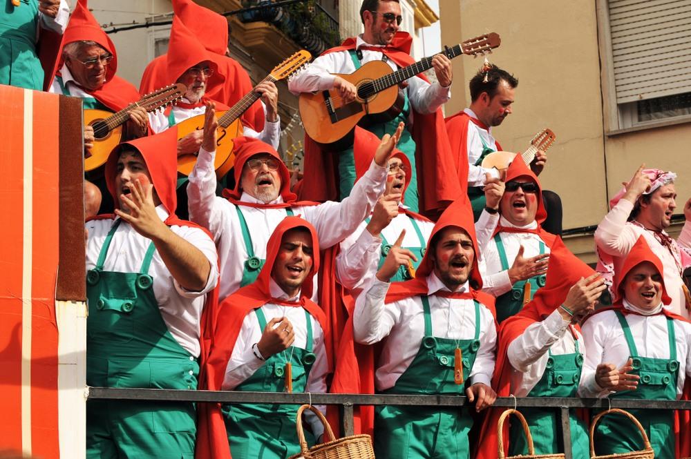 Chirigotas en el Carnaval de Cádiz