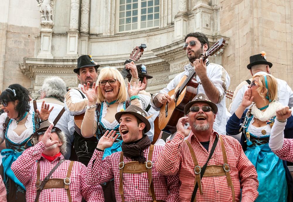 Coro en el Carnaval de Cádiz