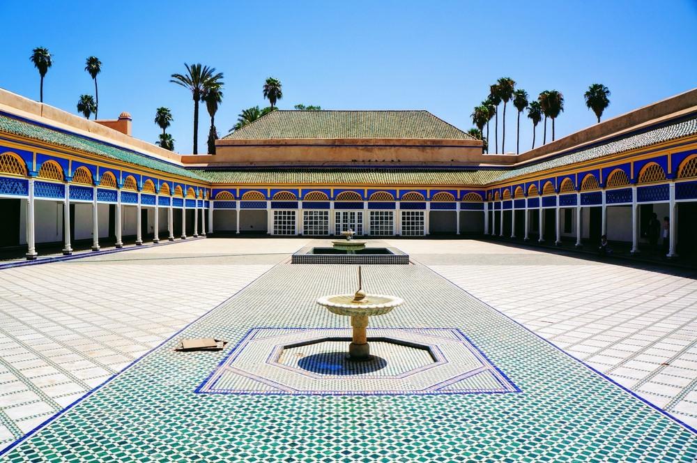 Los caracteríticos mosaicos del Palacio de la Bahía en Marrakech.