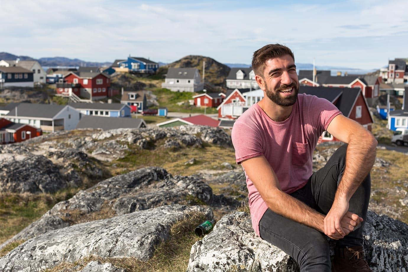 Villa de Nuuk en Groenlandia