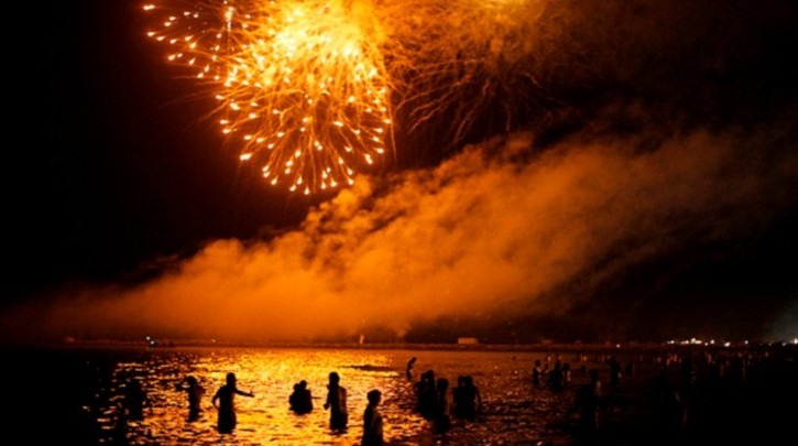 Celebración en la Playa de La Malagueta