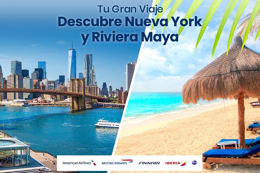 Nueva York y Riviera Maya, la combinación perfecta.