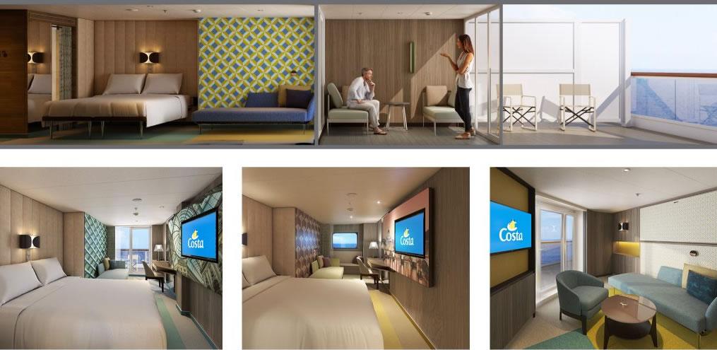 Camarotes que integrarán el balcón en la habitación