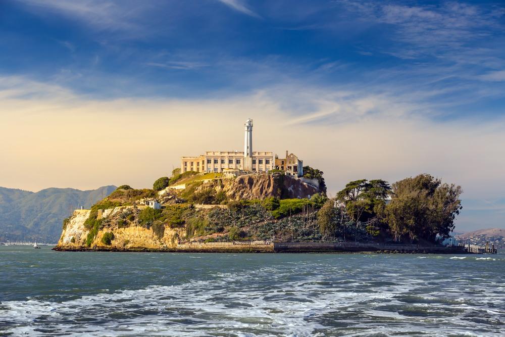 Vista de la isla y la prisión de Alcatraz. TAP Air Portugal